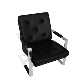 T-Back Lounge Chair - Black