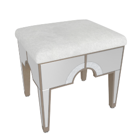 Mystique Stool-Champagne/Mirror