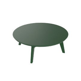 Satellite Round Cocktail Table, British Green