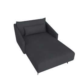 Costura Chaise, Ducale Wool Charcoal