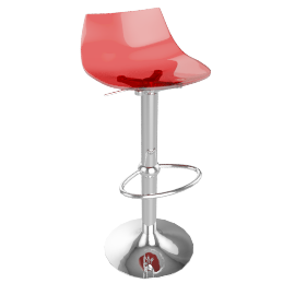 Led Bar Stool, Red
