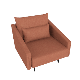Costura Armchair, Coral, Boucle