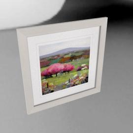 Debbie Neill - Time for Cherry Blossom Framed Print, 57 x 57cm