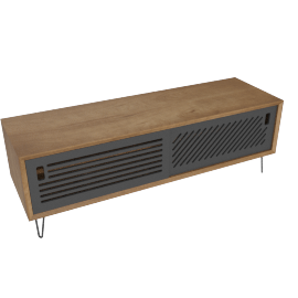 Pointillee media unit, grey
