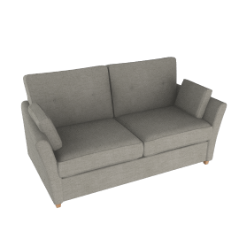 John Lewis Chopin Medium Sofa Bed with Open Sprung MattressSilver