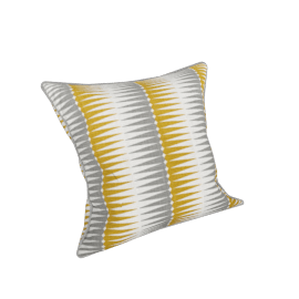 Ubud cushion, chartreuse and grey