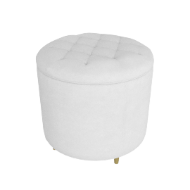 Adele Stool-Light Cream-Gold