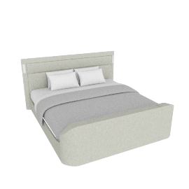 Brighton Super King Multimedia Bed - 200x210 cms, Grey