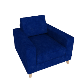 Mistral Armchair, Velvet Midnight