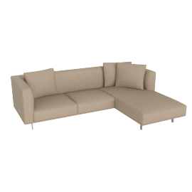 Bilsby Sectional with Right Chaise, Kalahari Leather Warm Grey