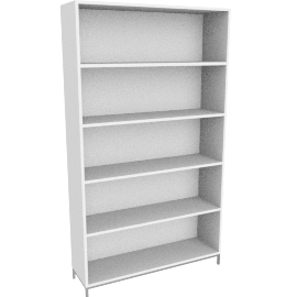 Sapporo Shelving, Five High - White