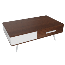 Retro 2-Drawer Coffee Table