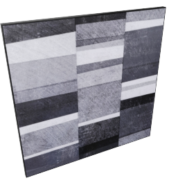 Shades Of Grey Lacquer Painting 80X2.5X80Cm-Black/White