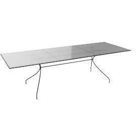 Emu Piano Extending Garden Table, White