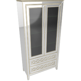 Casablanca 2 Door Bar Curio with Drawers