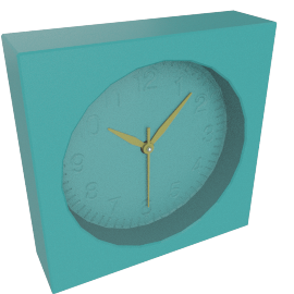 Addison Table Clock, Blue