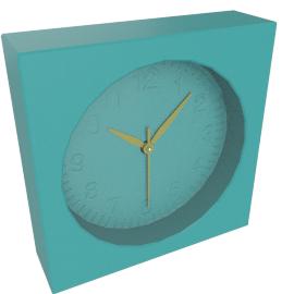 Addison Table Clock, Blue