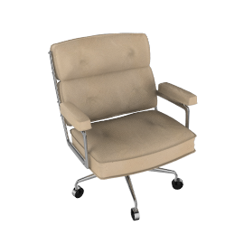 Eames Executive Chair - Vicenza Leather - Ivory