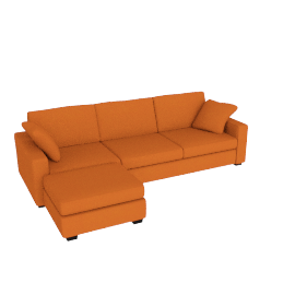 Tom Sofa Bed, Left Hand Facing, Russet