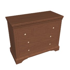 Normandie 6 Drawer Low Chest