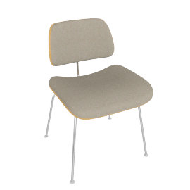 Eames Upholstered Molded Plywood Dining Chair (DCM)