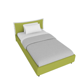 Sicily Bed Frame Cover with Zip Closure - 120x200 cms