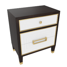 Adelina Night Stand-HG D.Cherry/Bge/Pearl Grey/Gold