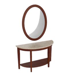 Oxville Console W/Mirror, White/Espresso