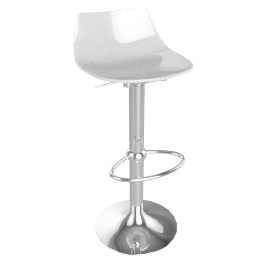 Led Bar Stool, White