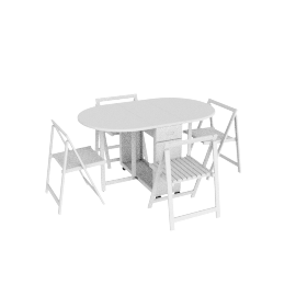 Butterfly Utility 5-Piece Dining Set