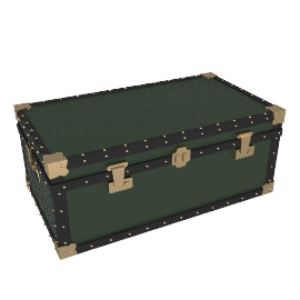 Traditional Steamer Trunk, Green