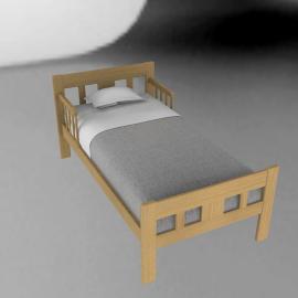 Abbie Junior Bed, Beech