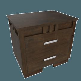 Trio 2-Drawer Nightstand