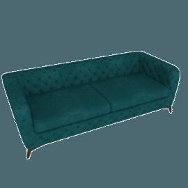 Sloan 3 Seater Sofa, Seafoam Blue Velvet