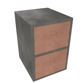 Stow filing cabinet, Copper