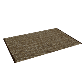 Fish Scale Dhurrie - 60x90 cms, Brown