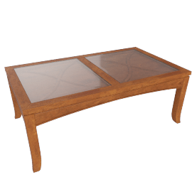 Darwin Patterned Rectangular Coffee Table