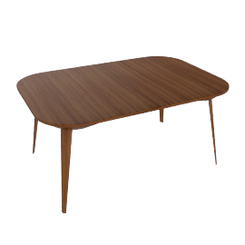 Bridge Extending Table - OPEN, Walnut