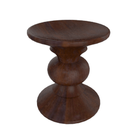 Eames® Walnut Stool - B