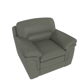 Taylor 1-Seater Sofa with Splayed Arms, Grey