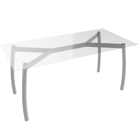 Albatross Glass Dining Table