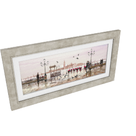 Venice: End Of Day Framed Print, 112 x 57cm