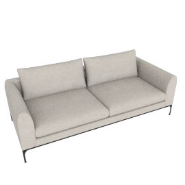 Jonas Sofa, Pebble Weave - Buff, Black Base