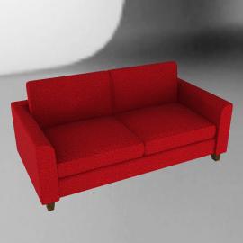 Portia Medium Sofa, Red