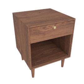 American Modern Side Table in Walnut