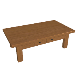 Bergerac Large Coffee Table, Alsace