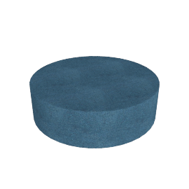 Drum Pouf Cocktail, Teal