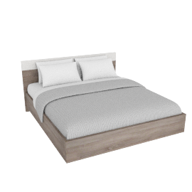 Dublin 180x200 Bed Set W/O Mirror, HG White/ Grey Oak