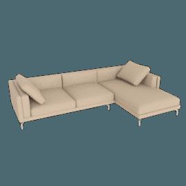 Como Sectional Right Chaise, Kalahari Leather - Chiaro
