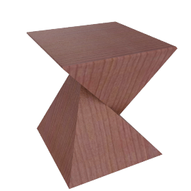 Zuca Side Table, Tan Walnut